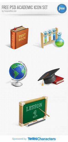 Free PSD Academic Icon Set - 365psd