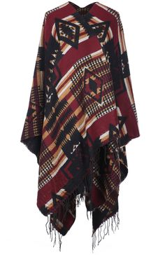 Ivory Poncho Style Crochet /& Tassel Fringe Trim 1//2 Sleeve Plus Top