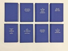 Set of 5 bespoke hardbound books with Rayon fabric covers & silver foil lettering. More information at http://www.document-centre.co.uk/blog/24122015173627-bespoke-hard-binding-with-rayon-fabric---hot-foil-stamping/