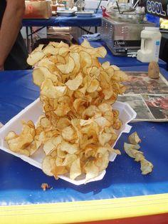 Ribbon fries. A fair favorite. #adamscountyfair
