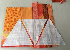 The Patchery Menagerie: Triangle Scrap Slab Magic. Love this idea! Quilting Tutorials, Quilting Projects, Quilting Designs, Sewing Projects, Sewing Tips, Quilting Tips, Sewing Tutorials, Sewing Hacks, Quilt Block Patterns
