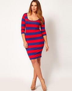 ASOS CURVE Bodycon Dress, asos.com, $42.50... I want this to wear with my biker boots!