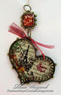 Passionate Paper Creations: Vintage Paris Ornament - Stmapendous