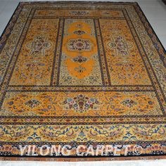 Persian rug Oriental Turkish carpet hand knotted silk rugs Tabriz rugs hereke area rugs double knots in size from 2'x3' to 14'x20' are handmade in Yilong Carpet. Color: Blue, Yellow, Pink, Beige, Light and green. Floral, patchwork Pattern. Flower, Birds, Tree of life, horse, Medallion, four season, garden the Last Supper and hunting design, Muslim prayer rugs and Christian prayer rugs Space: bedroom, living room, dining room and kitchen. hand knotted silk carpets and wool silk carpets.