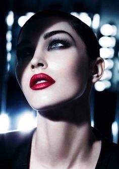 Megan Fox channels Snow White's Evil Queen for the Giorgio Armani Beauty ad campaign.