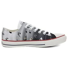 Converse All Star personalisierte Schuhe (Handwerk Produkt) Musical Notes - http://on-line-kaufen.de/make-your-shoes/converse-all-star-personalisierte-schuhe-notes