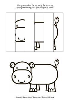 Complete the picture - hippo