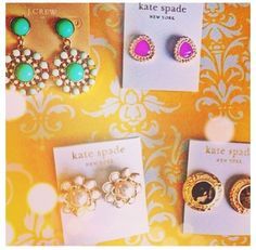 Kate Spade Earrings and J. Crew Earrings