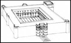 Reconstrucción del Qasr al-Hayr al-Gharbi.