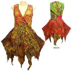 Spring Summer Witch Hem Sleeveless Short Dress
