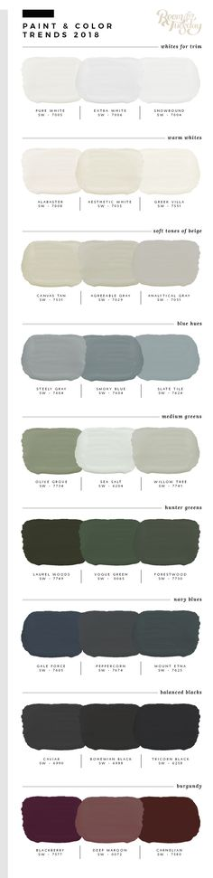 Predicted Paint Colors for 2018 Willow green house exterior - paletten - Dream houses Exterior Paint Colors For House, Interior Paint Colors, Paint Colors For Home, Paint Colours, Exterior Colors, Interior Design, Modern Paint Colors, Gray Exterior, Luxury Interior