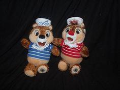 "Disney Cruise Line Chip N Dale Plush Chipmunks Stuffed Animal Toy Sailor Set 9"" #Disney"