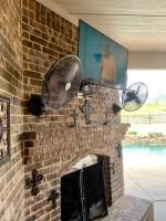 allen + roth Outdoor Air Mover Fan at Lowe's. This outdoor wall mount fan is perfect for outdoor entertaining. Outdoor Wall Fan, Outdoor Ceiling Fans, Outdoor Walls, Indoor Outdoor, Pink Bathroom Vintage, Allen Roth, Wall Fans, Construction Materials, Outdoor Entertaining