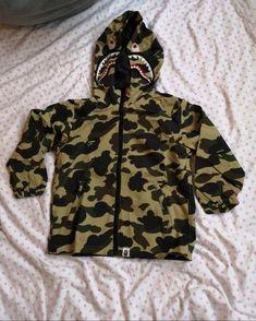 b0811316cba2 A Bathing Ape Bape Kids 1ST Camo Shark Hoodie Jacket Size 5-6 years 120cm