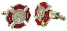 stainless steel firefighter cuff links cufflinks fire