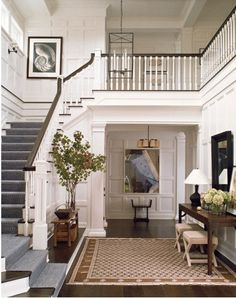 Entryway hallway console tables on pinterest entry ways console tables and mirror - Mirror opposite front door ...