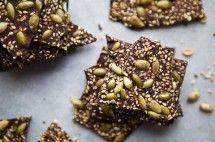 Salted, Seedy Chocolate Bark