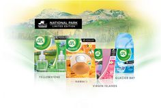 """""""Airwick national parks collection"""" because nothing smells more like nature than chemicals"""