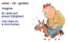 Learn German grammar irregular verbs with these easy example sentences.