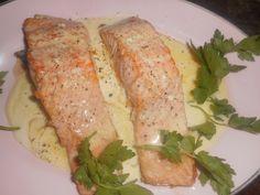 Pavé+de+saumon+beurre+a+l+ail+et+citron