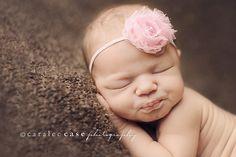 Mini Pink Shabby Baby Headband - Baby Girl Headbands - Baby Girl Hair Accessories - Infant Headband. Baby Hairbows. $5.50, via Etsy.
