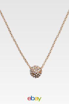 New kate spade night lounge mini pendant necklace Gold gift