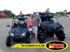 Thanks to Aimee Heath and Charles McLemore from Lucedale MS for getting a 2016 SSR 170RS and a 2016 Can Am Commander XT 800R. #HattiesburgCycles