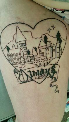 The start of my #harrypotter #tattoo #always #hogwarts #deathlyhallows