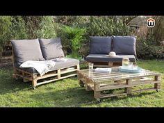 Fabriquez votre propre salon de jardin avec des palettes en bois. Un ...