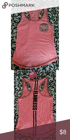 Flawless Pink Medium Tank Top NWT fits medium to small size. Really cute comfortable summer tank top or sleeping shirt. Tops Tank Tops