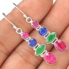 Ruby 925 Sterling Silver Earring Jewelry EE4536 | eBay