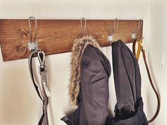 🌟 new product 🌟 we currently have ONE of these. this is a long 4 hook coat rack. Galvanized metal hooks and stained wood. dm, first come, first served Galvanized Metal, New Product, Hooks, Coat, Bags, Decor, Handbags, Sewing Coat, Decoration