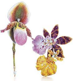 Paulding Farnham orchid brooches