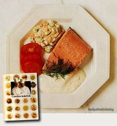 Cold boiled salmon