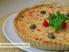 Essa receita de Quiche de Bacalhau é excelente para servir em festas ou como entrada em jantares especiais. Muito boa!!!  :)
