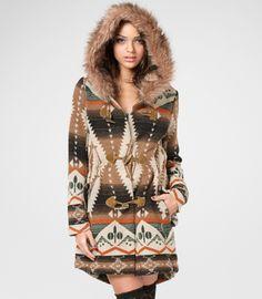 BB Dakota Faux Fur Hooded Bostwick Jacket