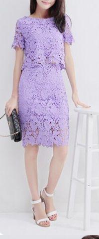 Crop Top Lace Set – Dress Me Good