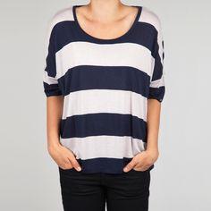 Fab.com | Oversized Tee Navy Stripe