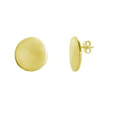 gold plated stud circle earrings