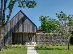 Cortenstahl Fassade - Der Vorgarten mit Veranda