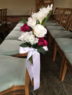 Gill and John 26th September 2014    Our Bride, Gill made most of the flowers from silk- so clever. We think they look beautiful!!
