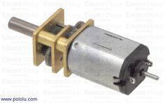 "10:1 Micro Metal Gearmotor HP with Extended Motor Shaft This gearmotor is a miniature (0.94"" x 0.39"" x 0.47""), high-quality, high-power motor with 9.96:1 metal gearbox, similar to Sanyo's popular 12 mm gearmotors."
