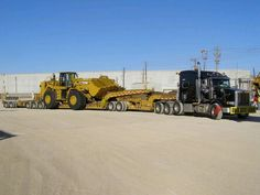Peterbilt 388 with 2x3x2 beam trailer RGN....