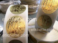 Etichette adesive in rotolo stampate su carta metallizzata