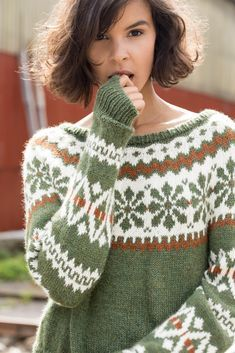 Loom Knitting, Knitting Stitches, Free Knitting, Vintage Knitting, Fair Isle Knitting Patterns, Knit Patterns, Stitch Patterns, Knitwear Fashion, Knit Fashion