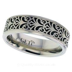 Geti Baroque Titanium Ring