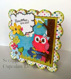made by Scrappin 5 Little Cupcakes with cut files form Miss Kate Cuttables...so bright and springlike