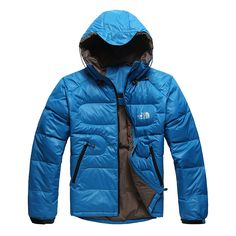 2012 Cheap North Face Mens Down Hoodie Blue
