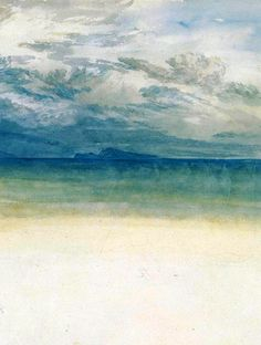 The Castel dell'Ovo, Naples, with Capri in the Distance, 1819 (detail), J. M. W. Turner.