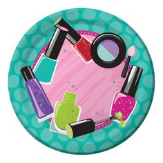 Sparkle Spa Party 7 Inch Icons Lunch Plate/Case of 96 - KT Party Supply